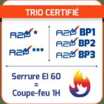 trio certifié a2p a2pbp feu